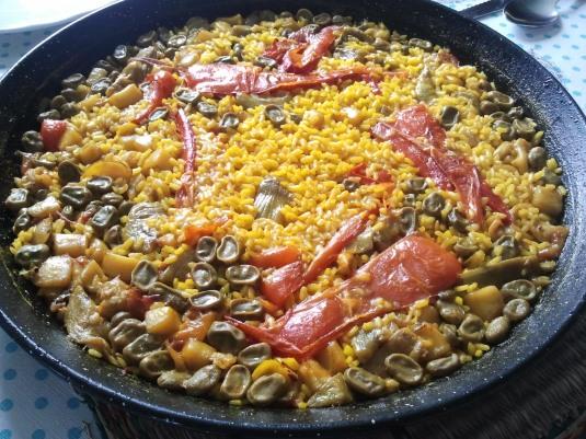 paella faves-carxofes-sepia